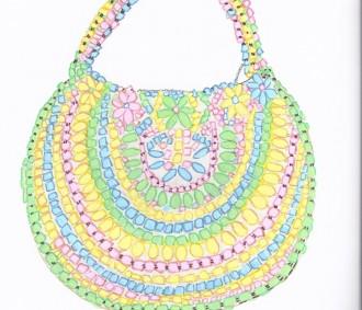 AmyLou Art - Gorgeous handbags- Pastel Memories