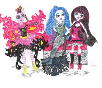 Loved Toys, Girls Toys 3 Freaky Cool Monster High Girls