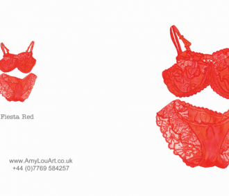 AmyLou Art - Sassy Lingerie - Fiesta Red