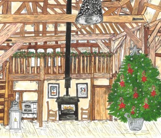 AmyLou Art - Bespoke Christmas card