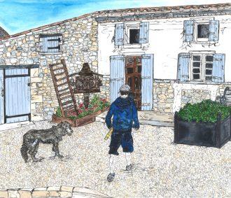 France gift - partners workshop and dog