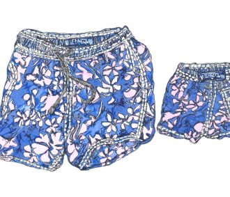 father and son swimming short s